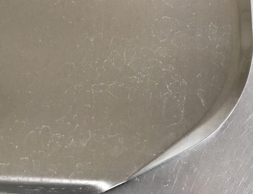 水切りトレイ 水垢
