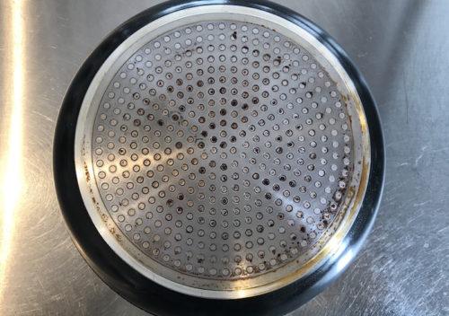 鍋底 洗浄後