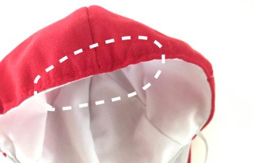 赤白帽お直し