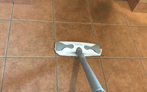 玄関スチーム掃除