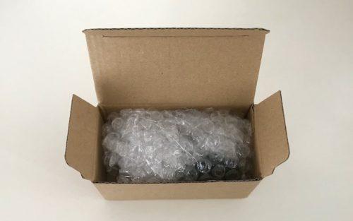 箱の中も緩衝材でしっかり保護されていました